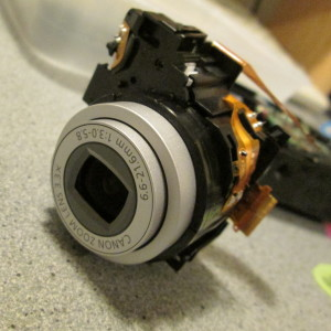 Canon A480 lens assembly